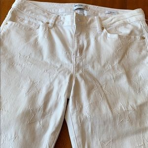 WILLIAM RAST skinny ankle white jeans